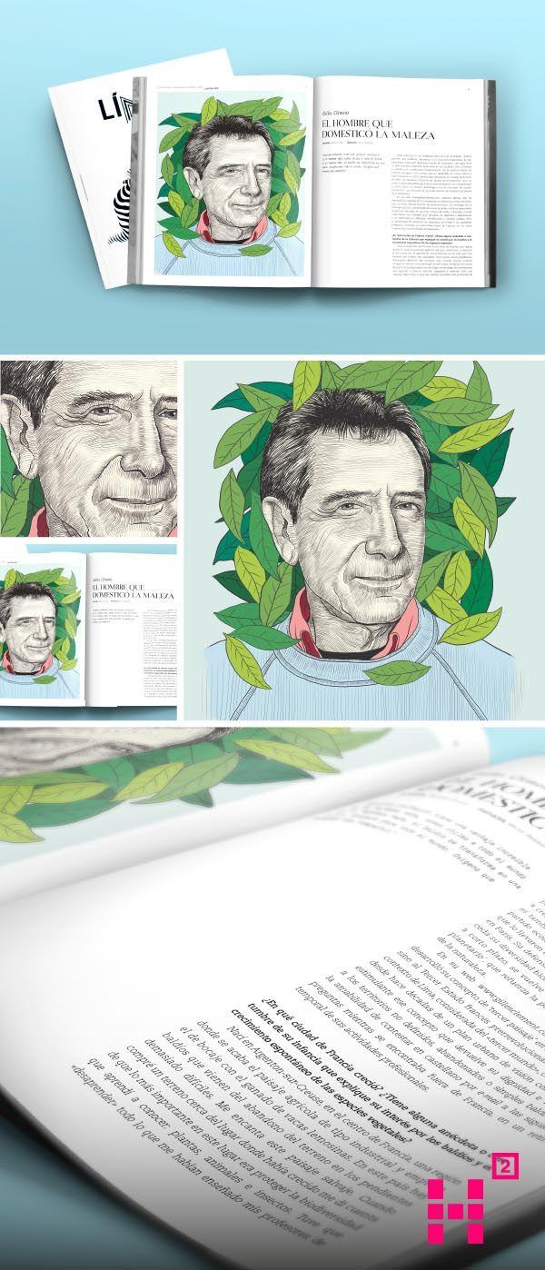 #Ilustración de #GillesClement para la edición N. III de la #revista Línea.