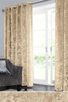 Crushed Velvet Eyelet Curtains (101093)   £70 - £150