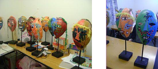 masques faits sur des ballons