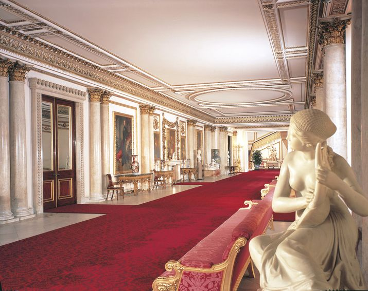 The Grand Entrance And Marble Hall At Buckingham Palace