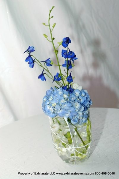 Blue Hydrangea Centerpiece Exhilarating Linen Amp Table