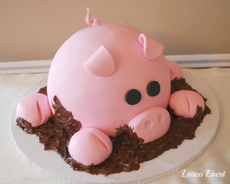 Piggy Cake by Loren Ebert from The Baking Sheet www.thebakingsheet.blogspot.com