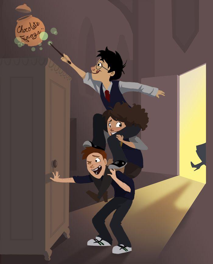 Geek Arte: Harry Potter no estilo cartoon | Magnatas