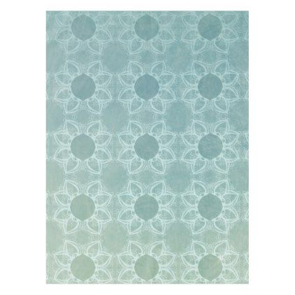 Elegance in Teal Tablecloth - decor gifts diy home & living cyo giftidea