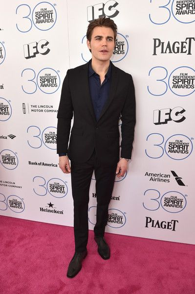 Actor Paul Wesley attends the 2015 Film Independent Spirit Awards at Santa Monica Beach on February 21, 2015 in Santa Monica, California. - 2015 Film Independent Spirit Awards - Red Carpet