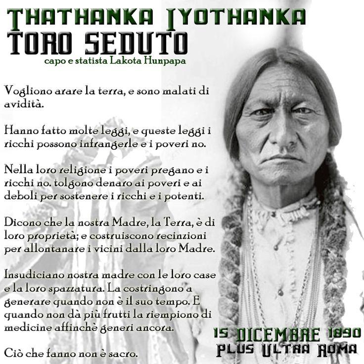 Toro Seduto 15 Dicembre 1890 Thathanka - Plus Ultra Roma