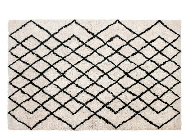 Fes Large Tufted Wool Rug 160 x 230cm, Off White