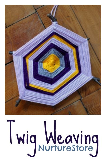 Twig weaving :: lovely autumn craft for kids