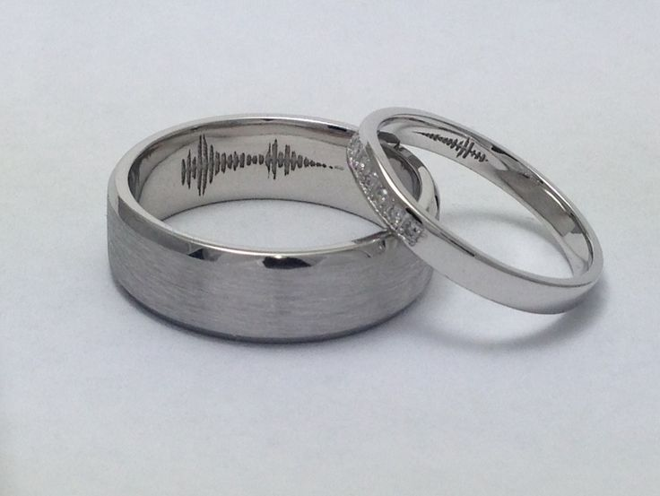 Voice print wedding rings.  Your secrete message on the inside of your partners ring
