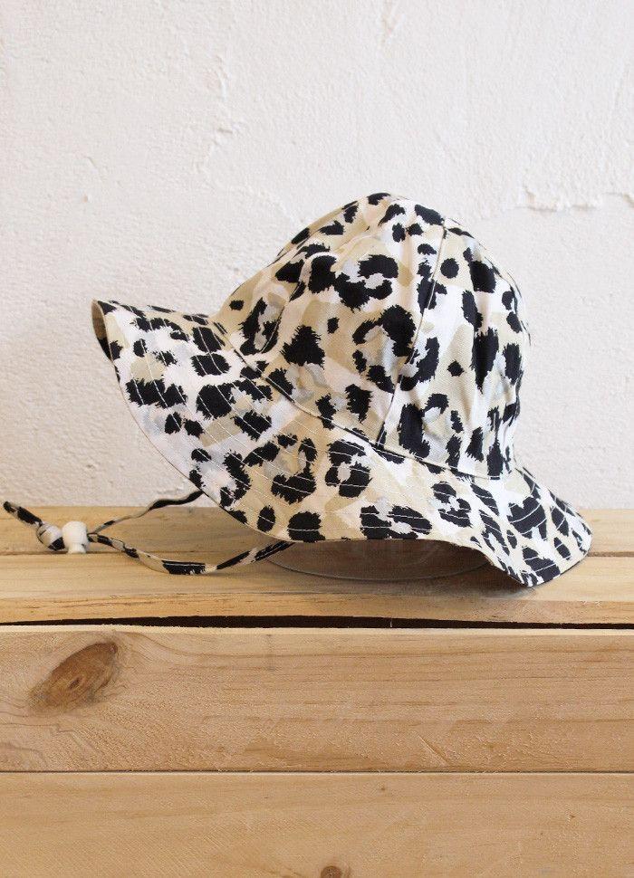 Panelled Sun Hat - Leopard