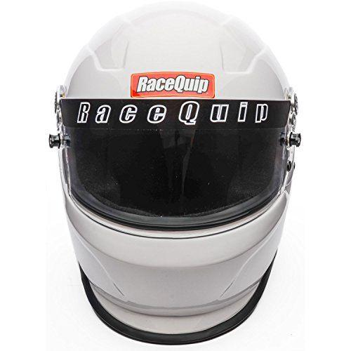 RaceQuip 273117 Gloss White XX-Large PRO15 Full Face Helmet (Snell SA-2015 Rated)