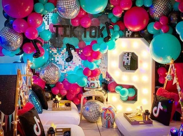Tiktok Birthday Party Ideas Photo 1 Of 10 In 2021 Teepee Party Slumber Party Decorations Girls Birthday Party Themes