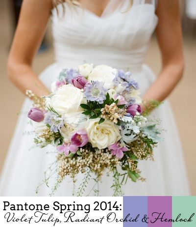 Pantone Spring 2014 Colour Report - Orchid and Hemlock