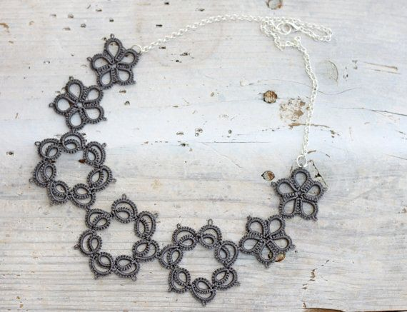 Tatted lace bib necklace by smaks, €31.50
