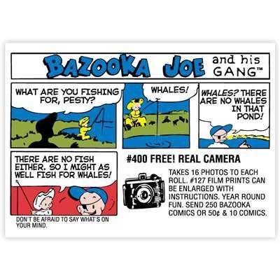 Bazooka Joe Comic 30: WALLS 360 Topps Popular Culture Wall Graphics: Bazooka Joe http://www.walls360.com/category-s/2332.htm