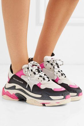 11be0d0502e Pink/White/Black Famous Women's Triple S Sneakers Sneakers in 2019 ...