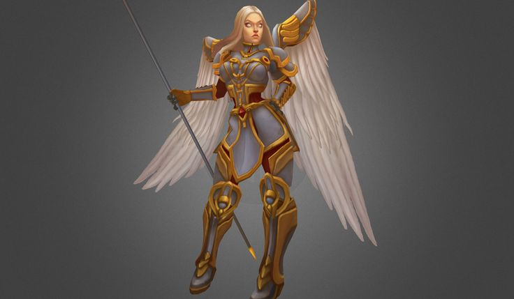 Low Poly Angel Female by bitgem