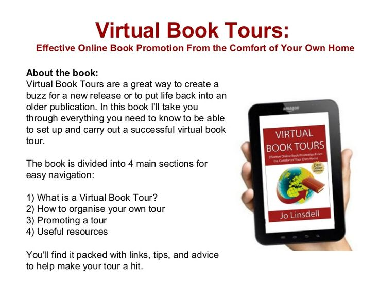 virtual-book-tours-effective-online-book-promotion-from-the-comfort-of-your-own-home by Jo Linsdell via Slideshare