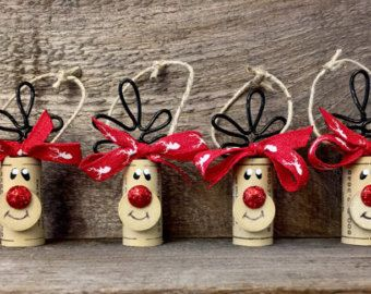 Set of 6 Wine Cork Snowman Ornaments by ReconditionaILove on Etsy …