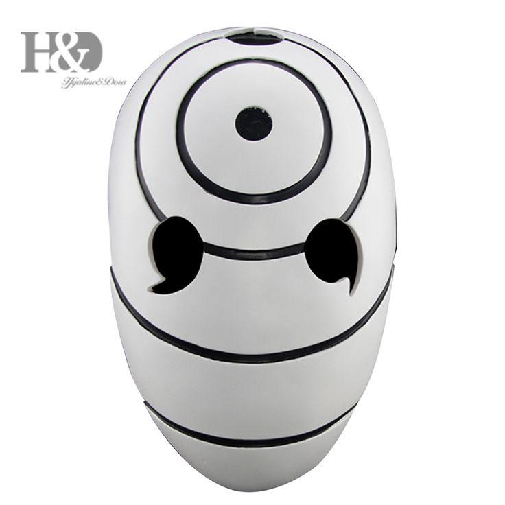 Anime Naruto Tobi Cosplay Mask White Resin Halloween Party Mask Male Female 11*7  inch
