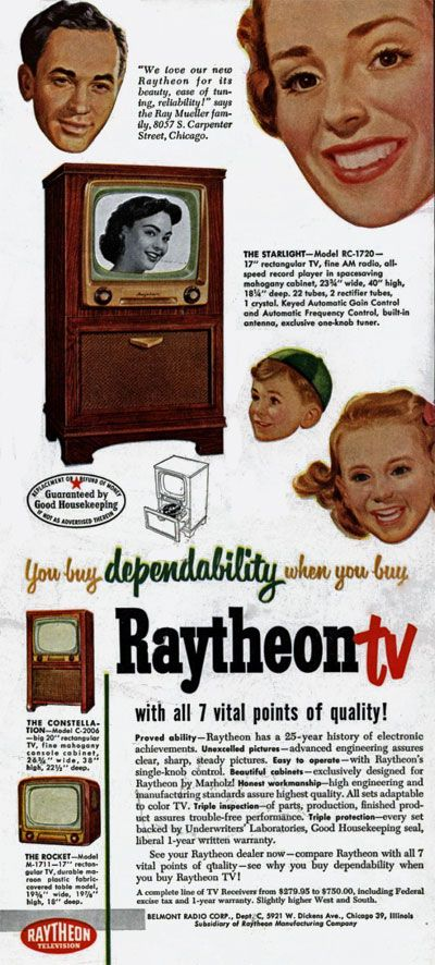 TV ad from early 1950s, via http://clickamericana.com/holidays-seasons/christmas/the-straight-facts-about-color-tv-1950