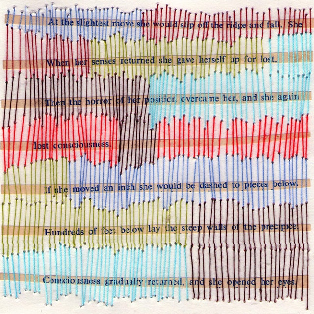 stitching on paper - very cool