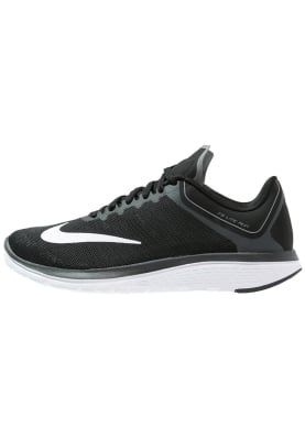 Nike Performance FS LITE RUN 4 - Løpesko konkurranse - black/white/anthracite/cool grey - Zalando.no
