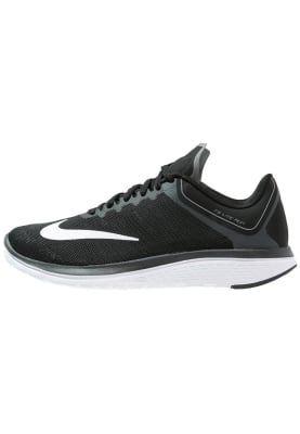 Nike Performance FS LITE RUN 4 - Løpesko konkurranse - black/white/anthracite/cool grey - Zalando.no