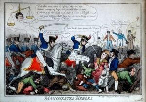 Manchester heroes - cartoon of the Peterloo massacre