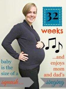 Pregnancy photo progression using Pic Monkey image editing - 32 Weeks/8 months