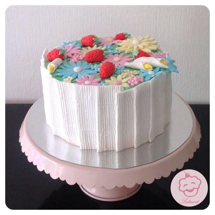Bloemen taart, flowers - Lataart -www.facebook.com/lataart1