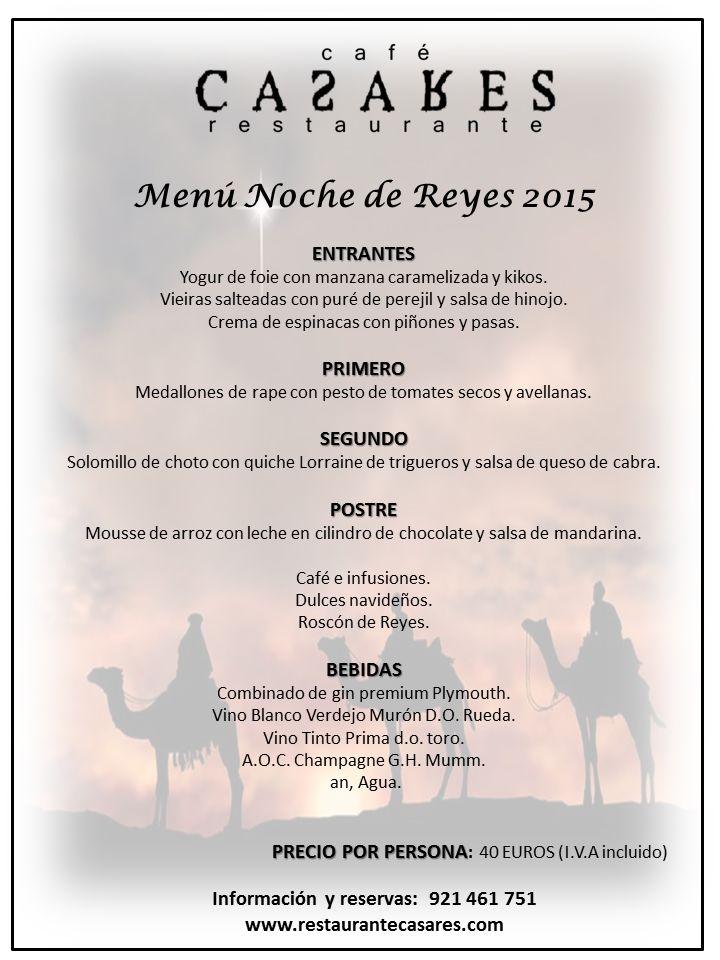 Menú Reyes 2014