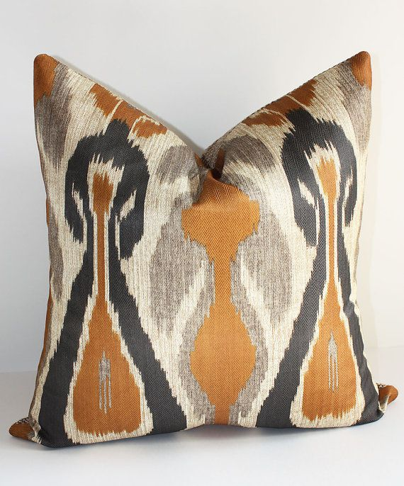 Tribal Chic Ikat Pillow Cover / 18 x 18 /  Desert Palette
