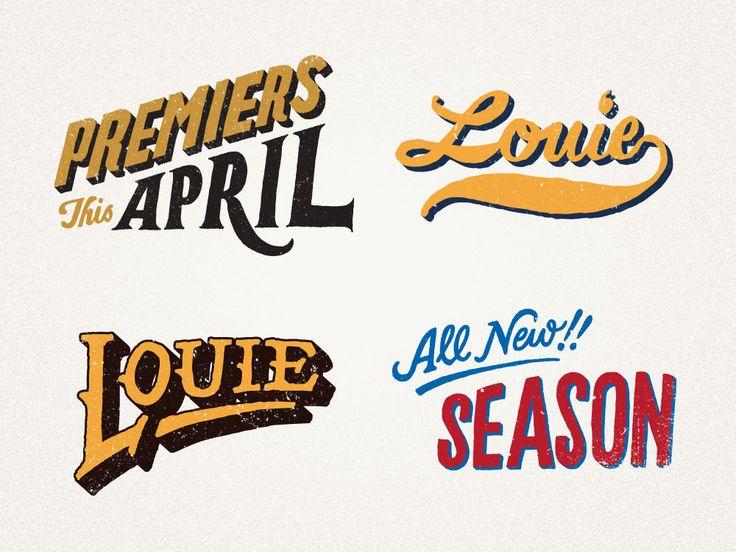 Louie: Vintage Types, Logo, Jon Contino, Illustration, Hands Letters, Graphics Design, Motion Graphics, Identity Design, Hands Drawn