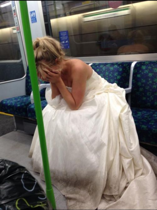 It's not a wedding dress, write the story.