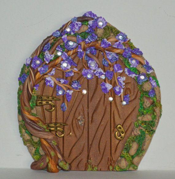 Wisteria & Moss Miniature Fairy Door, Fairy Garden, Fairy Decor, Portal