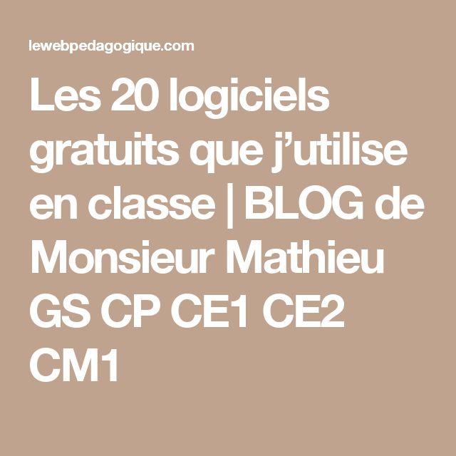 Les 20 logiciels gratuits que j'utilise en classe   BLOG de Monsieur Mathieu GS CP CE1 CE2 CM1