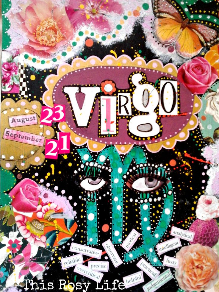 Virgo art print, Virgo art, Virgo zodiac sign, astrology art. by ThisRosyLife on Etsy