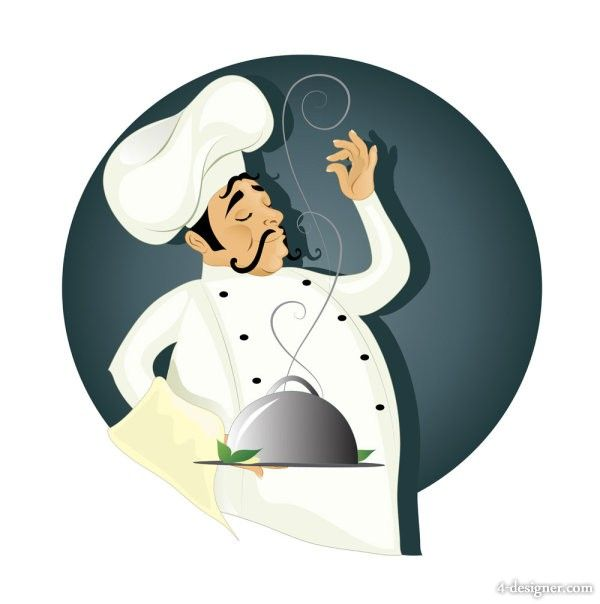 Cartoon Western Chefs 01   vector material