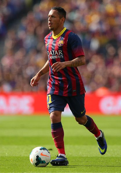 Adriano of FC Barcelona during the La Liga match between FC Barcelona and Club Atletico de Madrid at Camp Nou on May 17, 2014 in Barcelona, Catalonia.