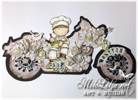 "Created by MiloLilja - Sweden • Instagram: milolilja • Pinterest: milolilja • Facebook: ""Milo Lilja - Art & Design"" • #scrapbooking #crafting #art #milolilja #cardmaking #paperart #shabbychic #artist #vintage #handmade"