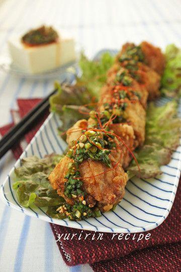 鶏の唐揚げ~韓流にらジャン~ by ゆりりんさん | レシピブログ - 料理 ...