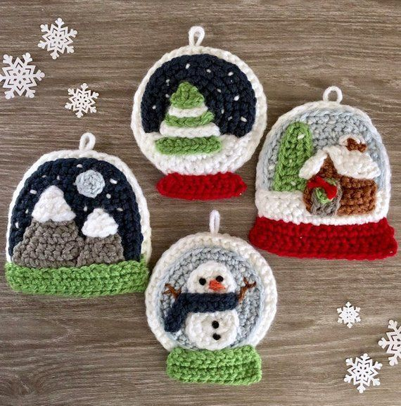 Over 100 Free Crochet Christmas Ornaments Patterns at AllCrafts! | 577x570