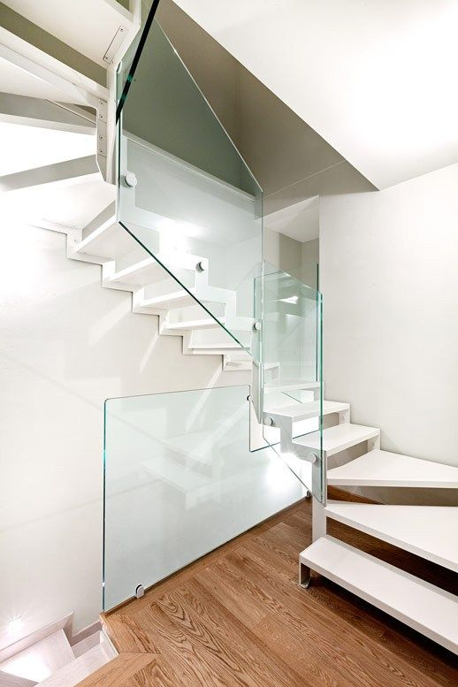Z-shaped Open #staircase VISTA ZETA by OFFICINE SANDRINI