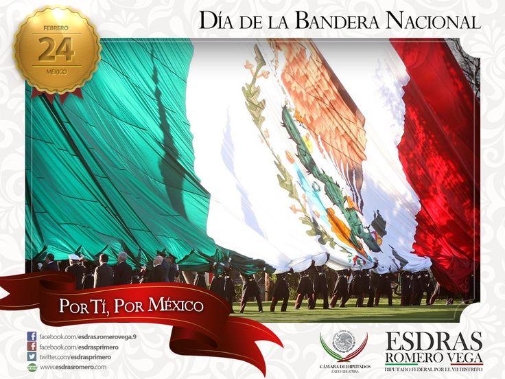 24 de febrero - Día de la Bandera Nacional, símbolo que representa a la nación mexicana, orgullo de nuestra nación. #Madero #Altamira #Aldama