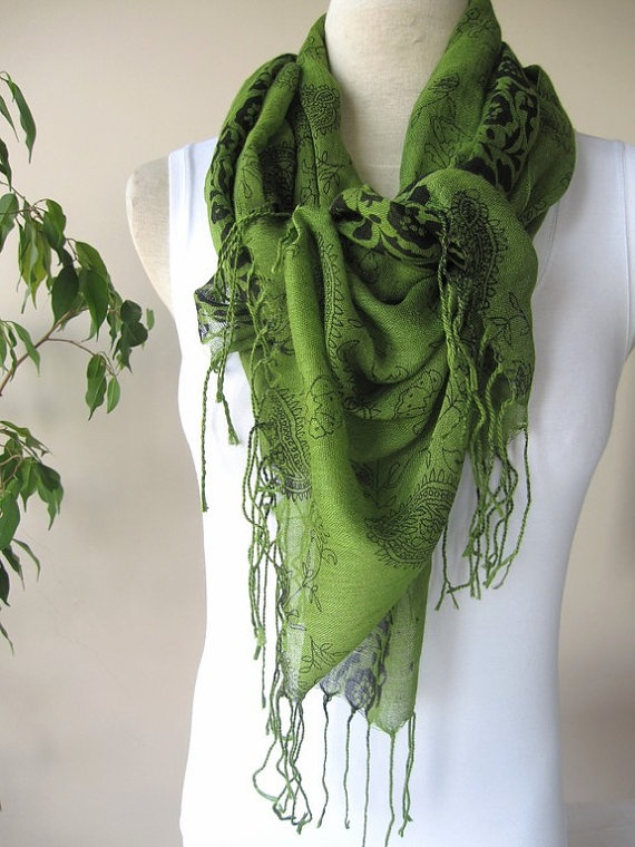 green scarf on etsy st s day