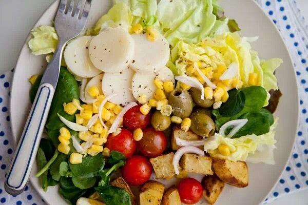 10 vegan salads | Healthy eating | Pinterest | Vegans and Salads