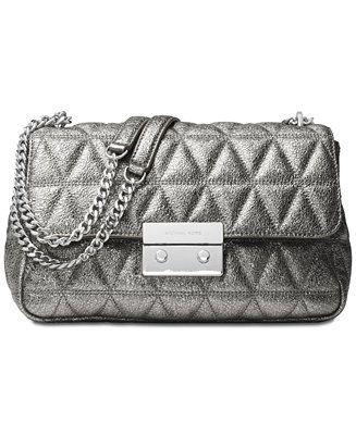7799e9e3392 MICHAEL Michael Kors Sloan Large Chain Shoulder Bag - Handbags   Accessories  - Macy s