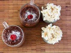Kakaolu yulaflı puding