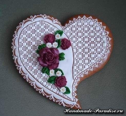 Пряники в форме сердца ко дню Святого Валентина - Handmade-Paradise